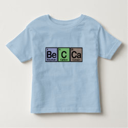 Toddler Fine Jersey T-Shirt with Becca made of Elements design