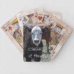 Becerro blanco de la cara - vaquera - occidental barajas de cartas