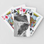 Becerro blanco y negro cartas de juego