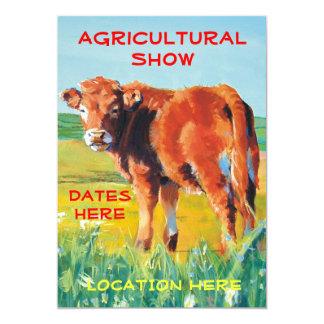 """Becerro lindo de las invitaciones agrícolas de la invitación 5"""" x 7"""""""