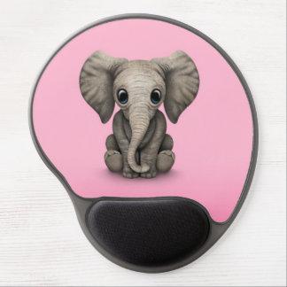 Becerro lindo del elefante del bebé que se sienta, alfombrilla de raton con gel