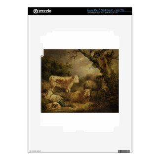 Becerro y ovejas de George Morland Pegatina Skin Para iPad 3