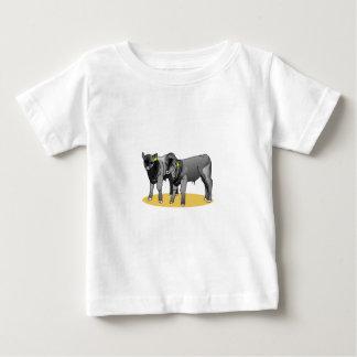 Becerros negros de Angus T-shirt