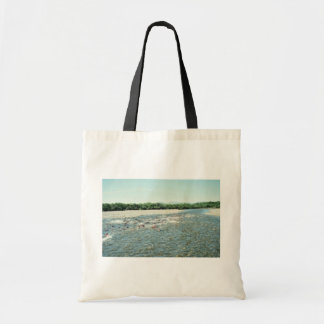 Becharof Creek with Spawning Salmon Tote Bags