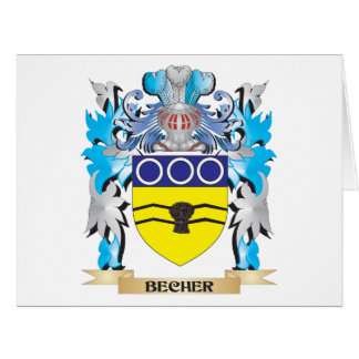 Becher Coat of Arms Large Greeting Card