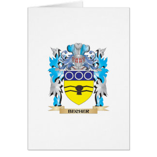 Becher Coat of Arms Greeting Card