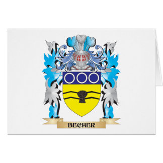 Becher Coat of Arms Stationery Note Card