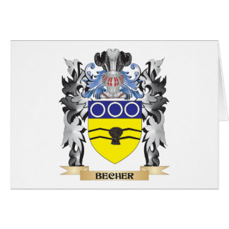 Becher Coat of Arms - Family Crest Stationery Note Card
