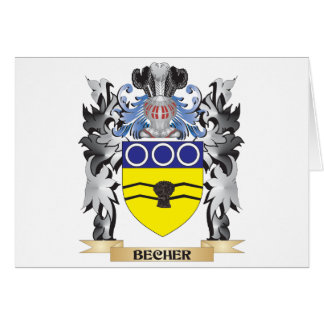 Becher Coat of Arms - Family Crest Greeting Card
