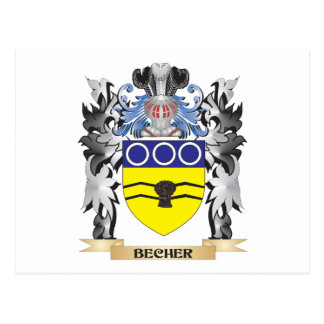Becher Coat of Arms - Family Crest Postcard