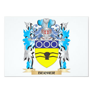 Becher Coat of Arms 5x7 Paper Invitation Card