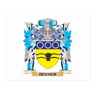 Becher Coat of Arms Postcard