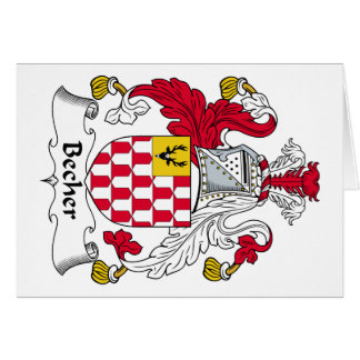 Becher Family Crest Greeting Card