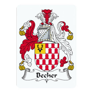 Becher Family Crest 5x7 Paper Invitation Card