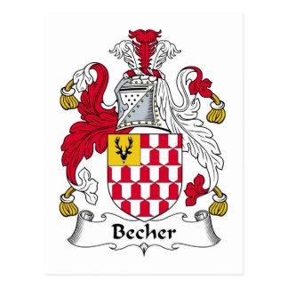 Becher Family Crest Postcard