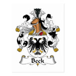 Beck Family Crest Post Card