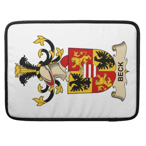 Beck Family Crests Sleeve For MacBook Pro
