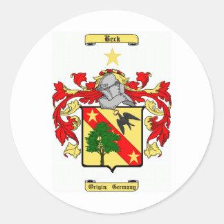 beck (german) classic round sticker