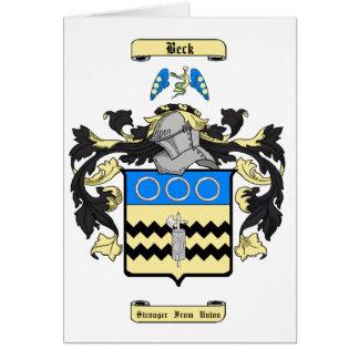 Beck (inglés) tarjeta pequeña