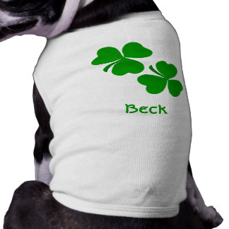 Beck Irish Shamrock Name T-Shirt