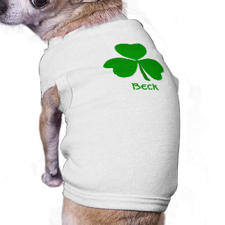 Beck Irish Shamrock Name Tee