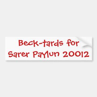 Beck-tards para Sarer Paylun 20012 Pegatina Para Auto