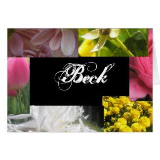Beck Tarjeta De Felicitación