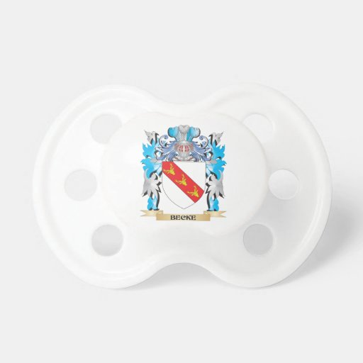 Becke Coat of Arms Baby Pacifiers