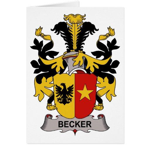 Becker Family Crest Card