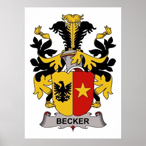 Becker Family Crest Poster