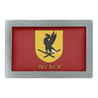 Becker Family Shield Belt Buckle