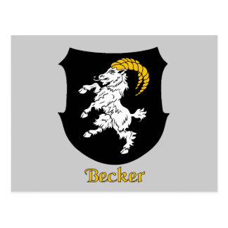 Becker Family Shield Postcard