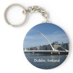 Beckett Bridge Over Dublin Ireland River Keyring