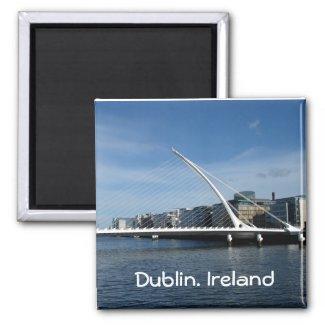 Beckett Bridge Over Dublin Ireland River Magnet magnet