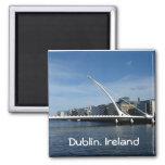 Beckett Bridge Over Dublin Ireland River Magnet