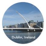 Beckett Bridge Over Dublin Ireland River Name Tag