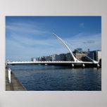 Beckett Bridge Over Dublin Ireland River Poster