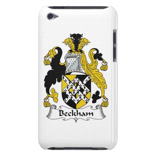 Beckham Family Crest Barely There iPod Cases