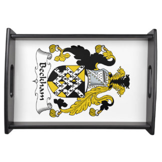 Beckham Family Crest Service Tray