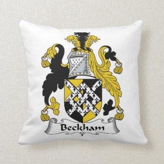 Beckham Family Crest Throw Pillow