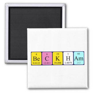 Beckham periodic table name magnet