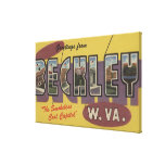 Beckley, West Virginia - Large Letter Scenes Stretched Canvas Print