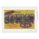 Beckley, West Virginia - Large Letter Scenes Card