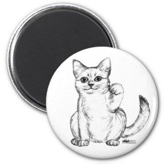 Beckoning Kitty Cat Maneki Neko Magnet