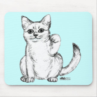 Beckoning Kitty Cat Maneki Neko Mouse Pad