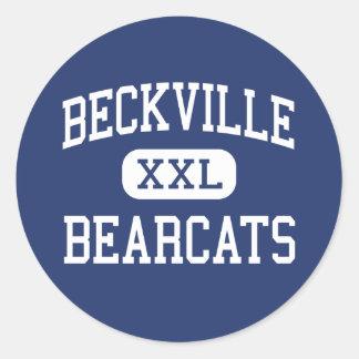 Beckville - Bearcats - High - Beckville Texas Classic Round Sticker