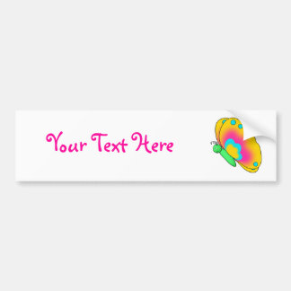 Becky Butterfly Customizable Bumper Sticker