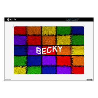 BECKY DECALS FOR LAPTOPS