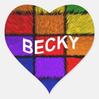 BECKY HEART STICKER