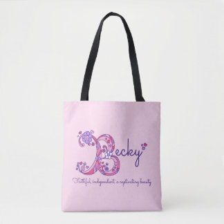 Becky name and meaning monogram bag
